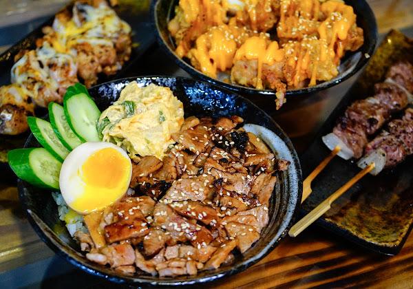 大口吃平價炭烤燒肉丼飯x乾燥花拍不完 文藻美食推薦-丼口食堂