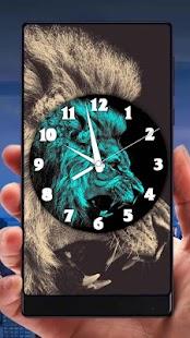 Lion Analog Clock Live Wallpaper - náhled