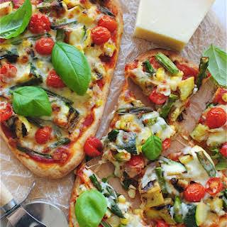 Grilled Veggie Naan Pizzas.