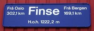 Sign at Finse railway station