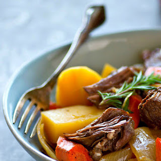Apple Cider-Braised Beef Pot Roast.
