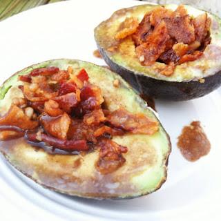 Bacon Avocado Cups with Balsamic Glaze.