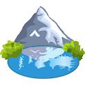Salty lakes icon