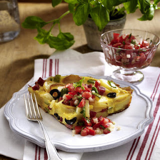 Hearty Breakfast Frittata with Tomato Salad