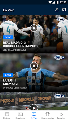 FOX Sports Latinoamérica Screenshot