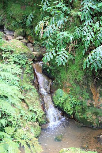 Натуральные горячие бассейны в лесу на Азорских островах
