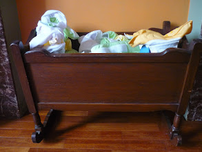 Photo: A cradle full of washable diapers