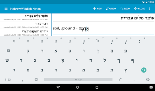 Hebrew/Yiddish Notes+Keyboard screenshot 19
