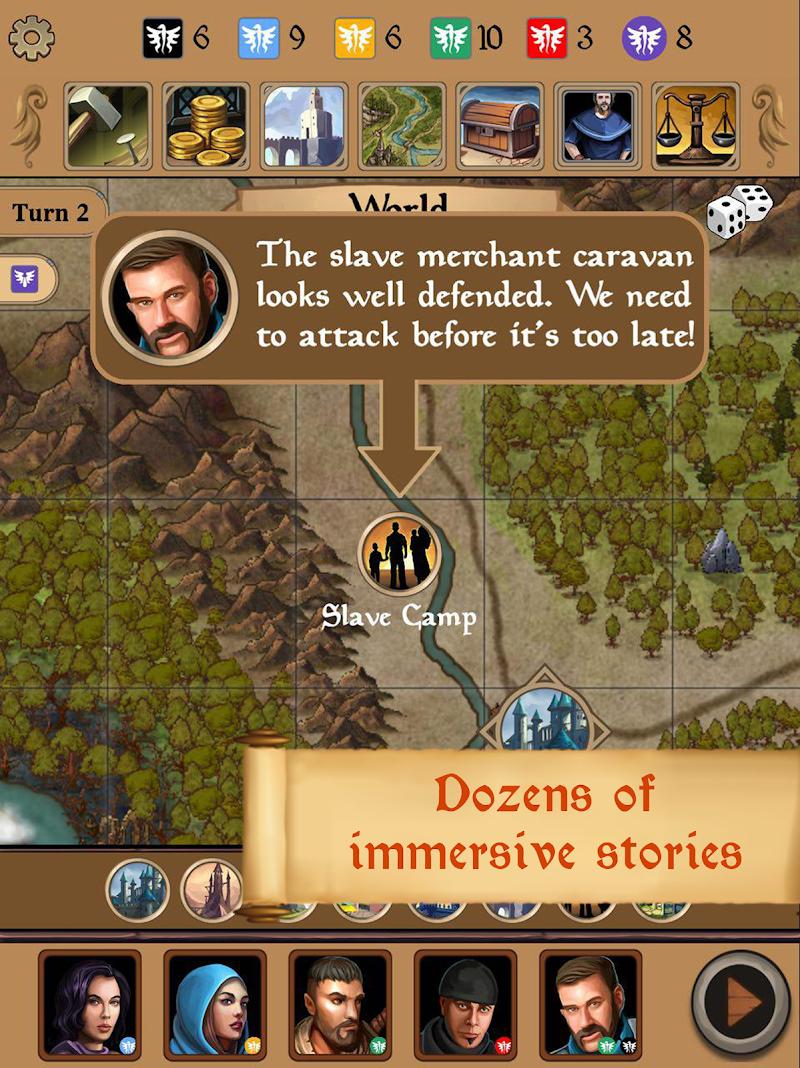 Silmaris - strategic boardgame and text adventures Screenshot 10