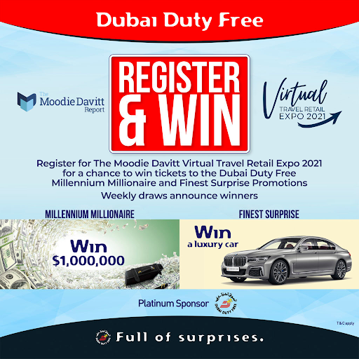 Virtual Travel Retail Expo delegates from DFS Group and Dufry win latest prize draw tickets with Dubai Duty Free