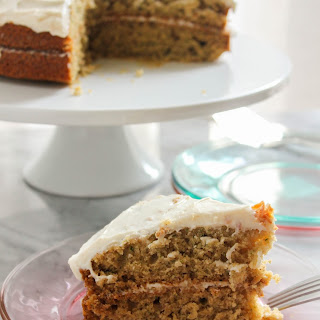 Zucchini Ginger Cake with Ginger Cream Cheese Frosting