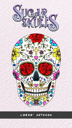 Simple Sugar Skull coloring page | Free Printable Coloring Pages | 512x288