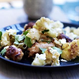 Crisp Cauliflower with Fennel Sausage and Feta.