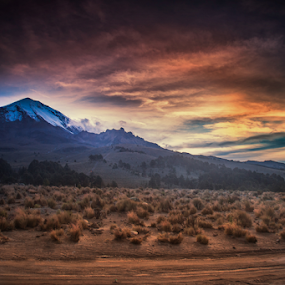 Sunrise with the volcano by Cristobal Garciaferro Rubio - Landscapes Mountains & Hills