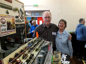 Photo: 008 Focus on the Traders 2. Chris and Christine Ward now live in Devon, so nearly all the NG model events are an expedition away, but nevertheless they are a fixture at just about every one that I've managed to get to in recent years. Here they are with a glimpse of their large and very popular range of CWR 3D printed locomotive bodies .