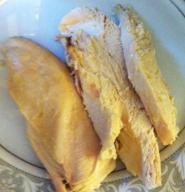 Chop cooked chicken. Add mayonnaise, celery, salt, pepper, paprika, and onion powder, and chopped...