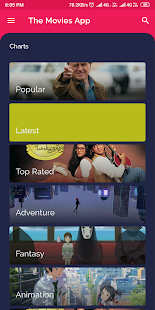 Movies App - Latest, Upcoming, Popular Movies Screenshot