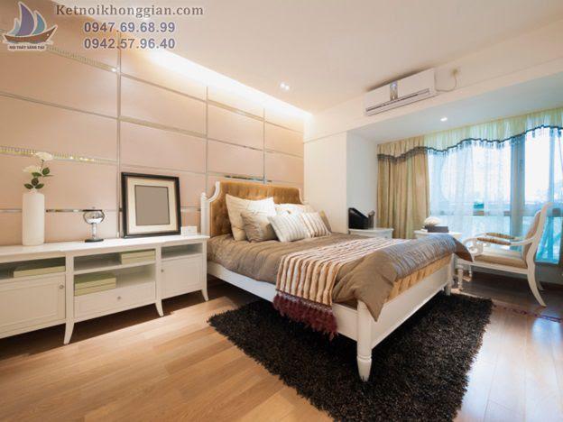 thiết kế phòng ngủ tránh màu hồng