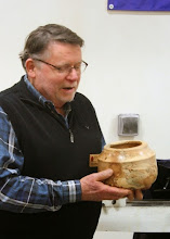 "Photo: Richard Webster made a pot in the ""Southwest"" style from this piece of heavily-spalted maple."