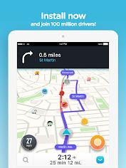 एंड्रॉइड / पीसी के लिए Waze - GPS, Maps, Traffic Alerts & Live Navigation ऐप्स (apk) मुफ्त डाउनलोड screenshot