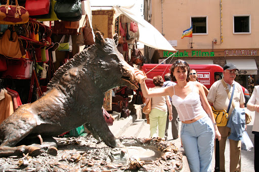 bronze-boar-florence.jpg - It's said that you rub Florence's bronze boar, Il Porcellino, for good luck.