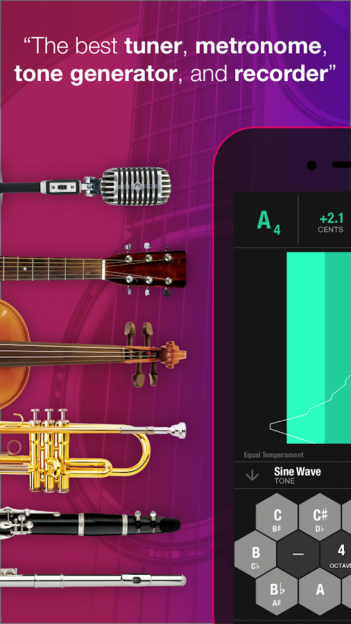 Tunable: Tuner, Metronome, Rec- screenshot