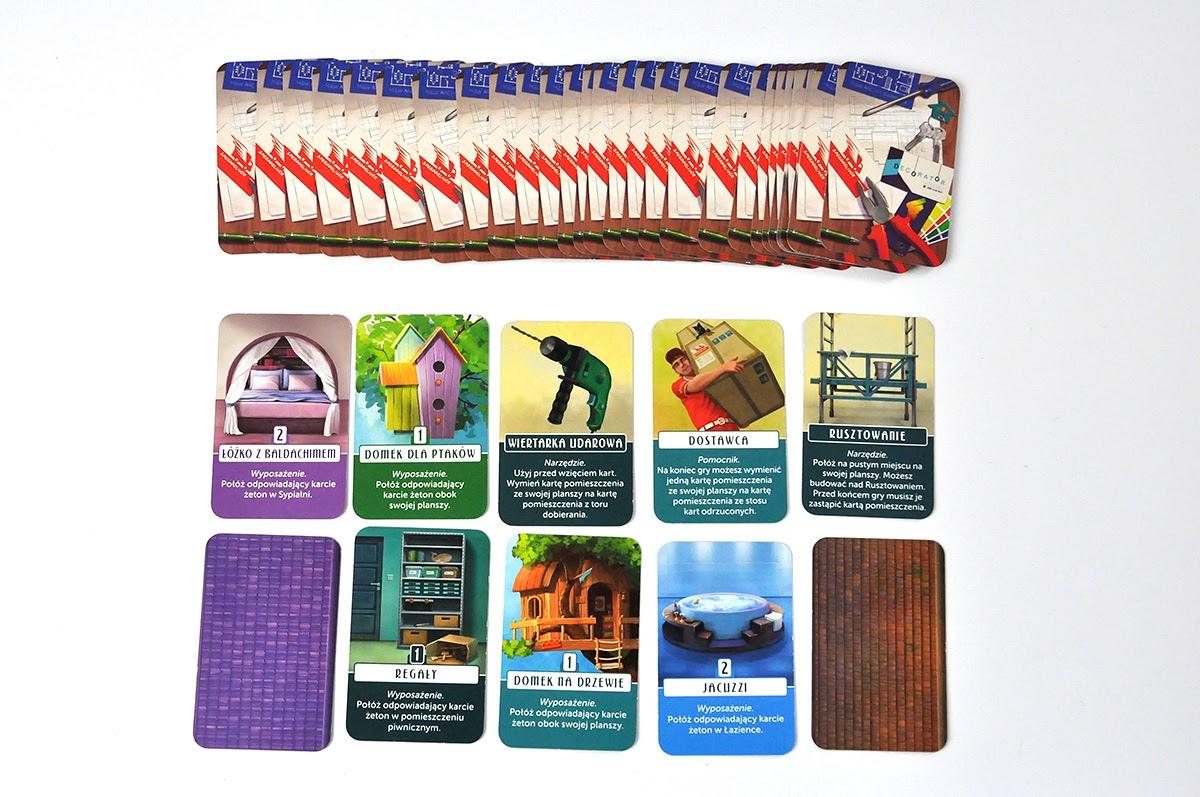 Domek - karty dodatków