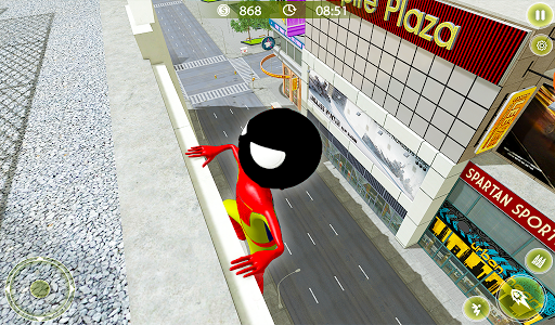 Stickman Crime City War - Stick Rope Hero Game 3 screenshots 10