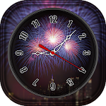 Firework Clock Live Wallpaper