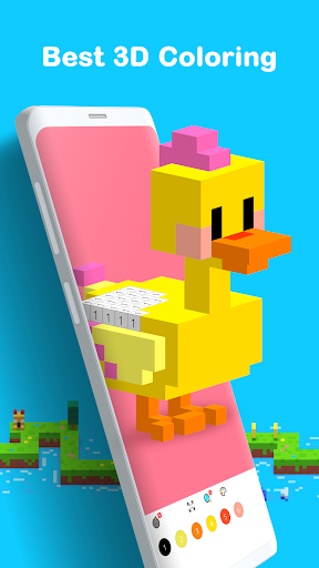 Voxel - 3D Color by Number & Pixel Coloring Book screenshot 2