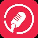 Karaokê canções voz gravador icon