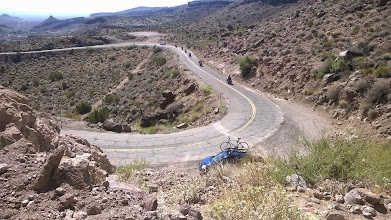 Photo: August 15-The final stretch of Arizona between Kingman and Oatman featured curving roads over undulating mountains.