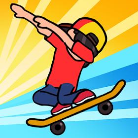 Tap Tap Skateboard Wheelie