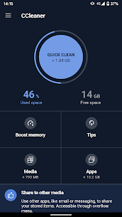 CCleaner: Cache Cleaner 5.1.2 , Phone Booster, Optimizer Mod Apk [Pro/Unlocked] 1