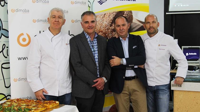 Miquel Pérez,  Luis Hernández, José maría Puerta y Manel Escala