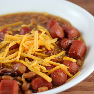 Simple Beans and Hotdogs