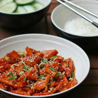 Korean-Style Spicy Tofu and Sesame Cucumbers [Vegan, Gluten-Free] Recipe