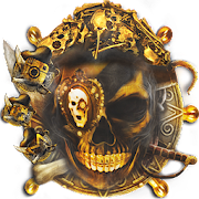 Gold Pirate Skull Theme
