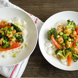 20 Minute Ginger Shrimp And Broccoli Stir-Fry