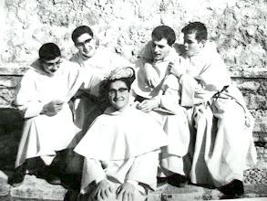 Photo: Fray Pedro, López Ros, Manjón, Cicero y Olóriz.