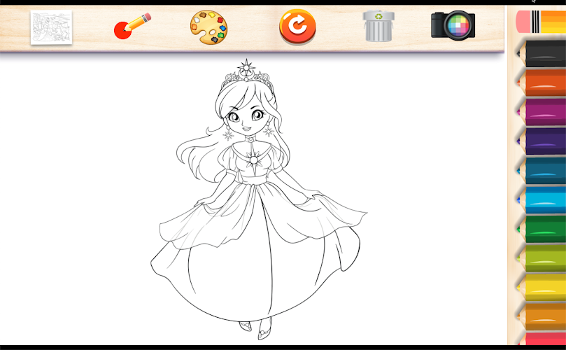 Indir Princess Coloring Book For Girl Apk Son Surumu Game88