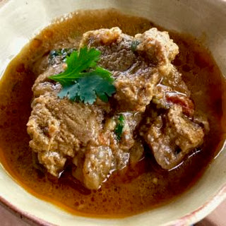 Pressure Cooker Indian Lamb Curry with Yogurt.