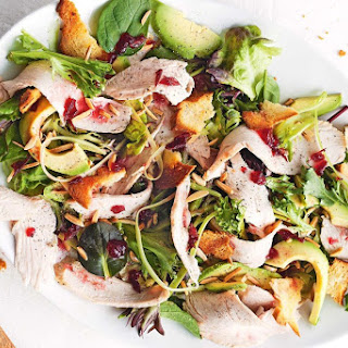 Turkey And Avocado Salad With Cranberry Dressing