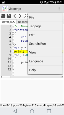 VisiScript Text Editor - screenshot