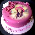 Name Photo On Birthday Cake icon