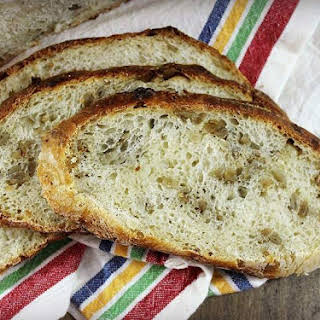 No Knead Honey Roasted Sunflower Seed Bread.