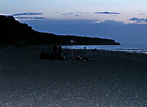 Photo: Nightlife at the beach. Warnemünde.