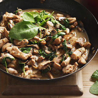 Marsala Chicken with Mushrooms and Spinach.