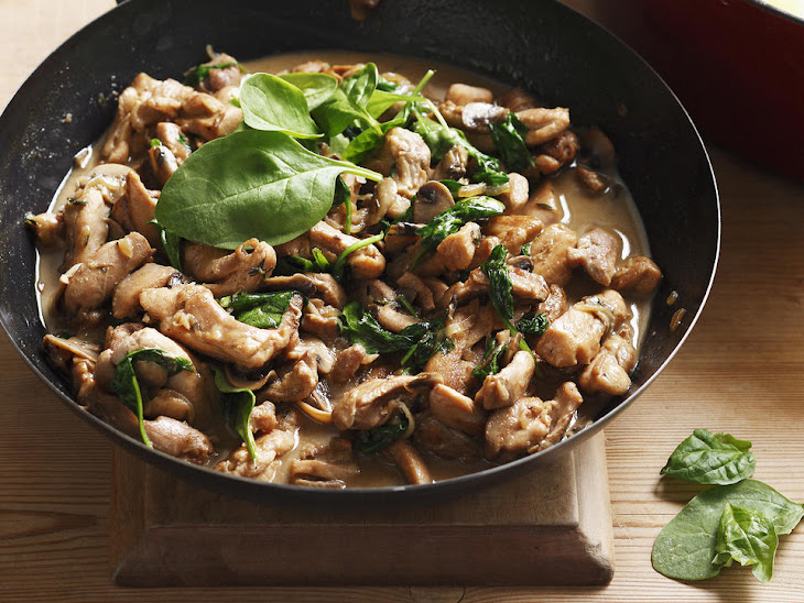 Marsala Chicken with Mushrooms and Spinach Recipe