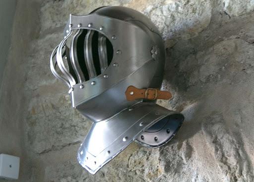tallinn-knight-armor-helmet2.jpg - An armor helmet in the Kiek in de Kök Fortification Museum in Tallinn.
